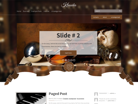 Klassiko Free WordPress Theme