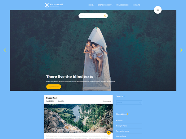 KnownWorld Free WordPress Theme