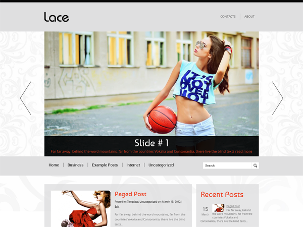 Lace WordPress Theme