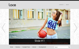 Lace Free WordPress Theme