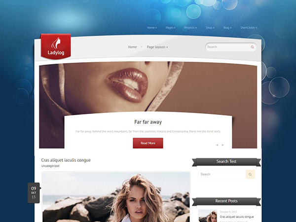 Ladylog Free WordPress Theme