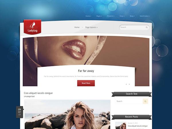 Ladylog WordPress Theme