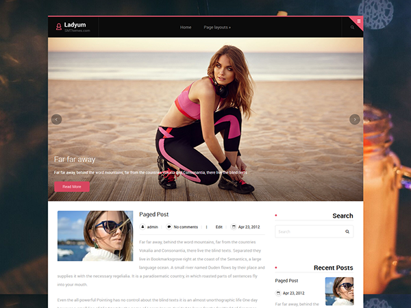 Ladyum WordPress Theme