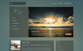 Lens Free WordPress Theme