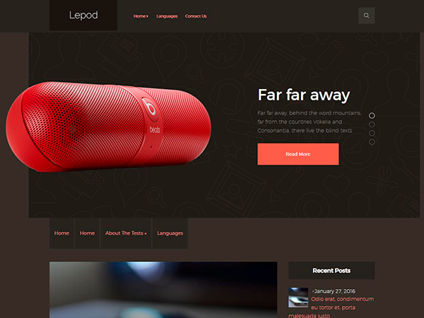 Lepod Free WordPress Theme