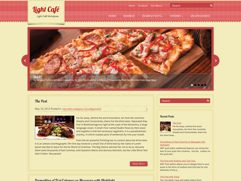 LightCafe WordPress Theme