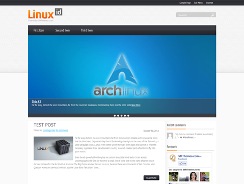 LinuxId Free WordPress Theme