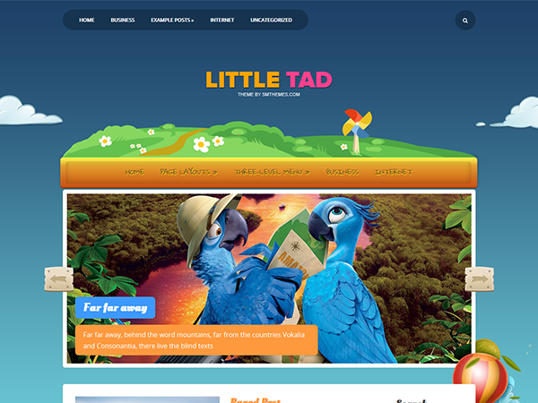 LittleTad Free WordPress Theme