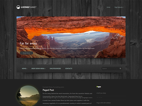 LivingPlanet Free WordPress Theme