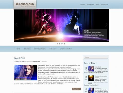 LoudCloud WordPress Theme