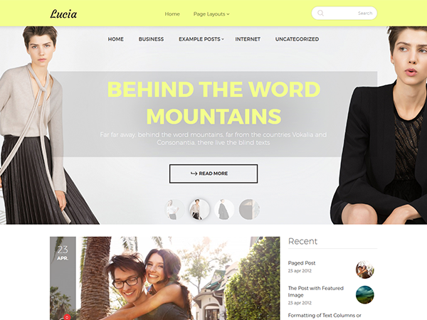 Lucia Free WordPress Theme