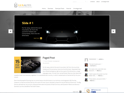 LuxAuto Free WordPress Theme