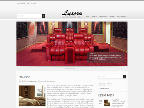 Luxero WordPress Theme