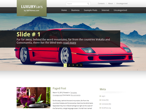 LuxuryCars WordPress Theme