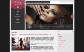 LuxuryFashion Free WordPress Theme
