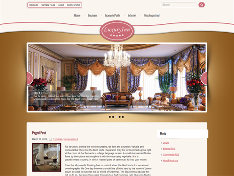 LuxuryInn WordPress Theme