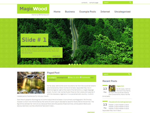 MagicWood WordPress Theme
