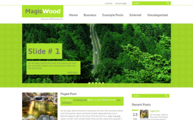 MagicWood Free WordPress Theme