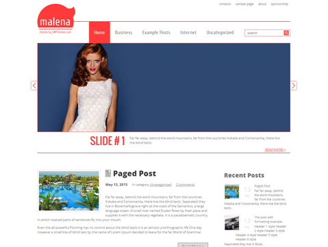 Malena Free WordPress Theme