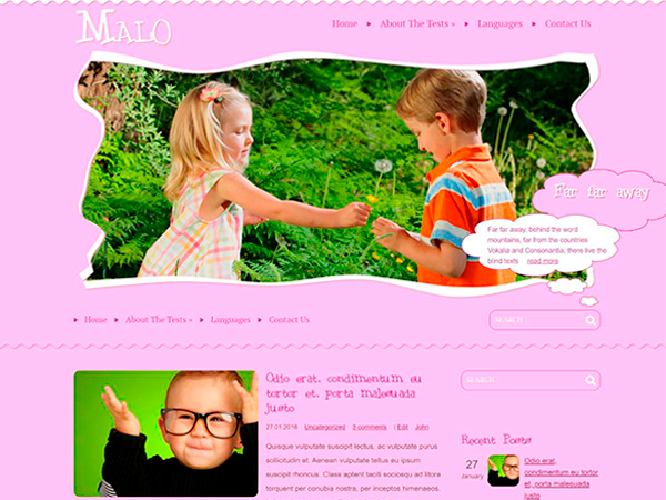 Malo Free WordPress Theme