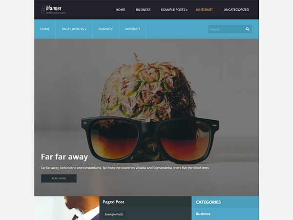 Manner Free WordPress Theme