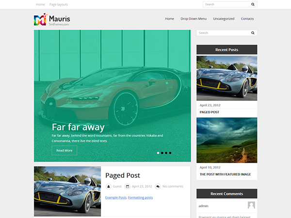 Mauris Free WordPress Theme