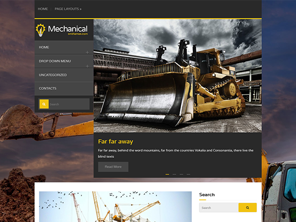 Mechanical Free WordPress Theme