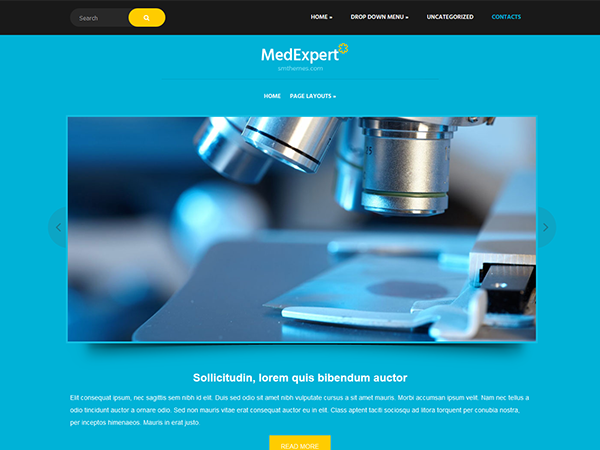 MedExpert Free WordPress Theme