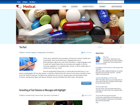Medical website templates WordPress Theme free Download