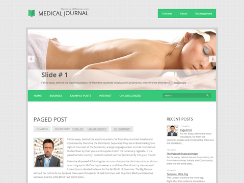 MedicalJournal Free WordPress Theme