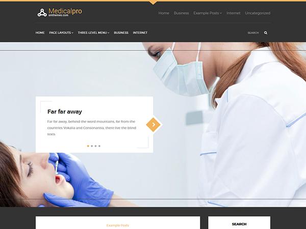 MedicalPro Free WordPress Theme