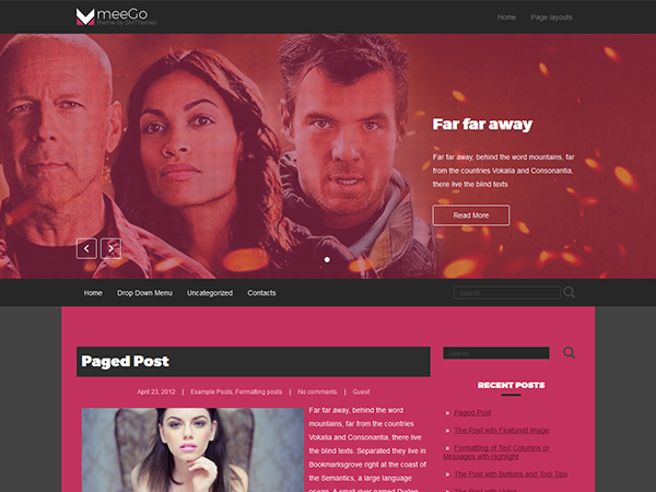MeeGo Free WordPress Theme