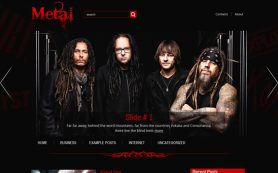 Metal Free WordPress Theme