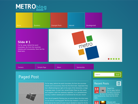 MetroBlog WordPress Theme
