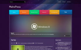 MetroPress Free WordPress Theme