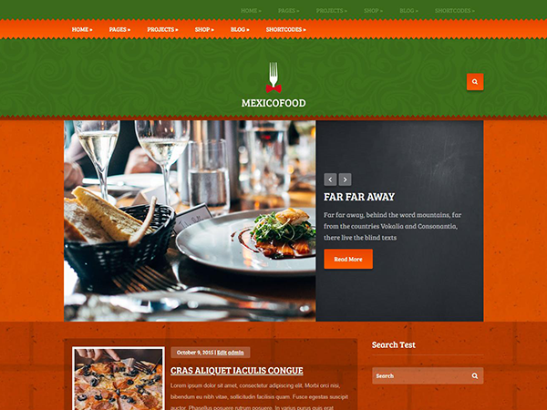Mexicofood Free WordPress Theme