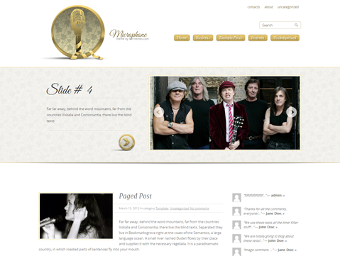 Microphone Free WordPress Theme