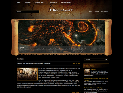 MiddleEarth WordPress Theme