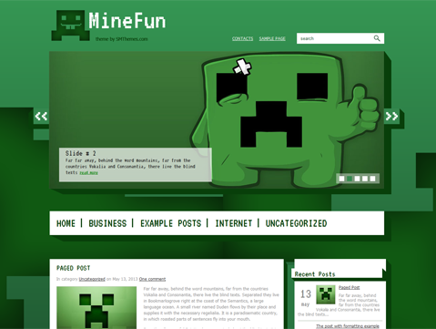 MineFun WordPress Theme