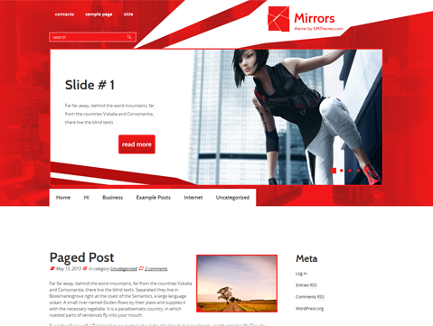 Mirrors Free WordPress Theme