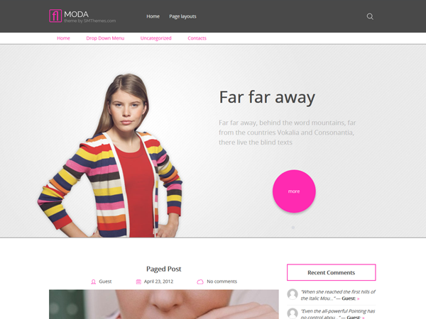 Moda Free WordPress Theme