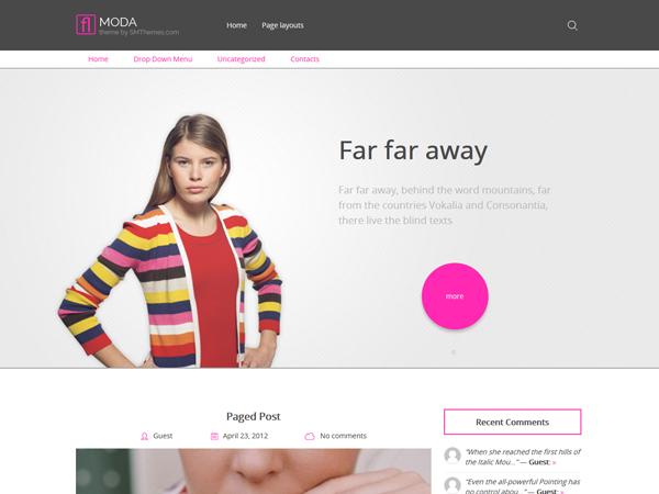 Moda Free WordPress Theme