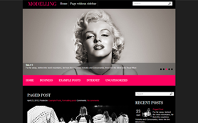Modelling Free WordPress Theme