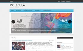 Molecula Free WordPress Theme