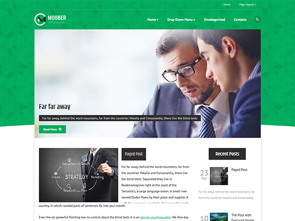 Moober Free WordPress Theme