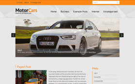 MotorCars Free WordPress Theme