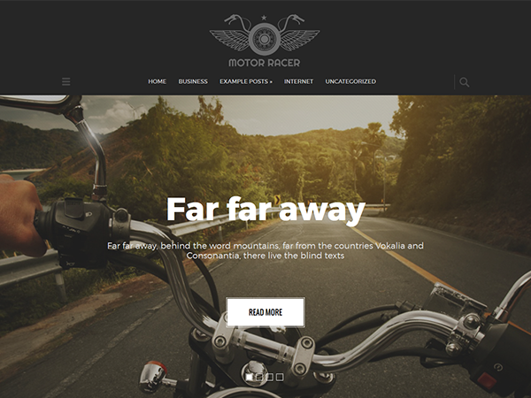 MotorRacer Free WordPress Theme