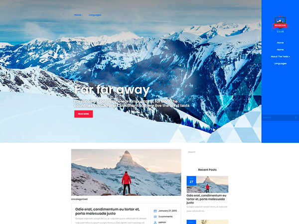 MountainClub WordPress Theme
