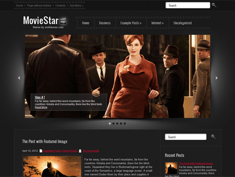 MovieStar Free WordPress Theme