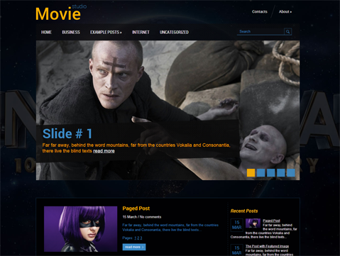 MovieStudio Free WordPress Theme